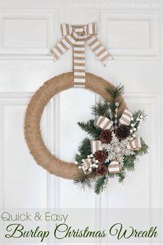 caractériELLE: Dix couronnes de Noël à faire soi même..