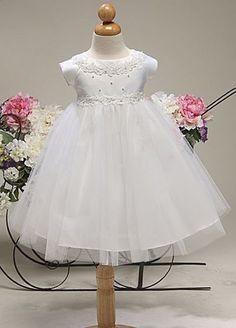 New Flower Girl Baby Infant White Dress Bridesmaid Wedding Birthday Formal 800 #DressyHolidayPageantWedding
