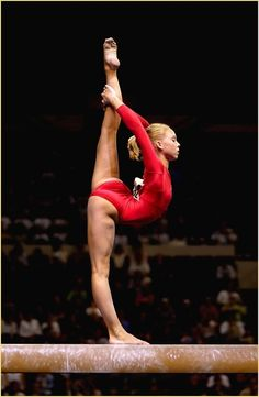 Holly Vise (United States) on beam at the 2003 U.S. National Championships