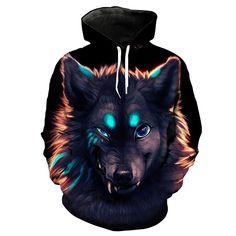 Wolf Hoodie 3D Full Printing //Price: $45.95 & FREE Shipping //     #uzumakinaruto #obito #itachi #emotional #sharingan #awakening Wolf Hoodie, Black Hoodie, Funny Wolf, Demon Wolf, Anime Store, Sportswear, Christmas Clothes, Mens Fashion, Moda Masculina