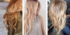 Strawberry Blonde, Buttery Blonde and Beige Blonde hairstyles
