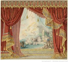 [Projet de rideau de scène / Napoléon Sacchetti] | Gallica