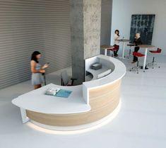Mostradores de recepción - contemporáneo y mobiliario de oficina moderno
