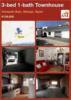 3-bed 1-bath Townhouse in Almayate Bajo, Malaga, Spain ►€139,000 #PropertyForSaleInSpain