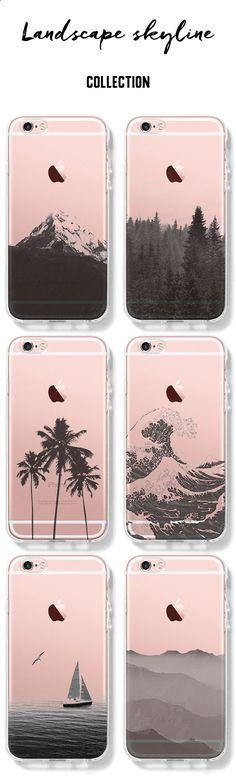 Phone Cases - Stylish Landscape iPhone Clear Case for 6S/6/Plus/SE/5S/5/5C Landscape-Collection
