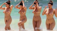 kelly brook naked in the ocean