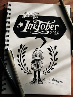 Inktober, days 1, 2 & 3 Well well weell… I'm doing the Inktober challenge too! First drawing is just a little cover I did for it <3 Prepare for a little spam of these drawings!
