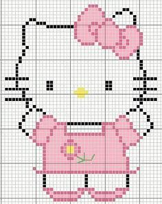 Hello Kitty Vorlage hama perler beads pattern