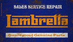 Placa Decorativa Lambretta Decorative Signs, Vintage Signs, Garage, Logos, Carport Garage, Decorative Screen Panels, Logo, Garages, Car Garage