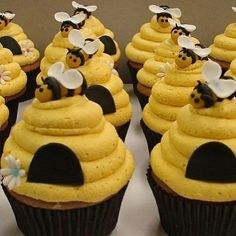 Bees:  #Bee cupcakes.