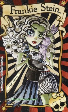 Monster High Freak Du Chic - Frankie Stein  Card/circus poster
