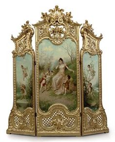 dressing screens offer a unique display for murals and have practical use, or rather, did have
