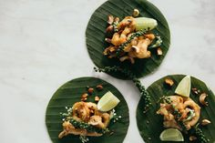 Deep fried squid , cashew nut served with fresh lime and pepper Fresh Lime, Fish Recipes, Food Styling, Stuffed Peppers, Deep, Stuffed Pepper