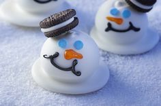 Melting Snowmen Cookie Balls Recipe