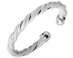 Polished Sterling Silver Plated Bangle Mesh Bangle Cuff BraceletWomen's Men's Fashion Jewelry V.S. Bracelets. $15.99. Polished Sterling Silver Plated Bangle Mesh Bangle Cuff BraceletWomen's Men's Fashion Jewelry. Adjustable size.