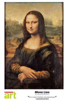 2012/13 Scholastic Art Reproduction (free for subscribers). Mona Lisa by Leonardo da Vinci