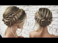 Hair and Braid – Reverse Braided Bun Making - Coiffure Sites Braided Bun Hairstyles, Braided Hairstyles, Wedding Hairstyles, Braided Updo, Graduation Hairstyles, Bridesmaid Hair, Prom Hair, Christmas Party Hairstyles, Reverse Braid