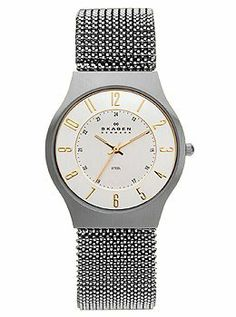 Skagen 3-Hand Stretch Mesh Men's watch #233LSG2 Skagen. $83.73