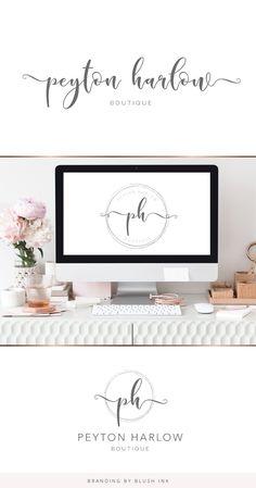 Photography Logo Design, Boutique, Script, Branding Design, Kit, Creative, Photography Logos, Script Typeface, Brand Design