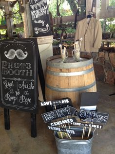 Can you say ADORABLE?  Complete photo booth props, just add the guests!  Wedding by Cafe Merlot  // www.cafemerlot.com //