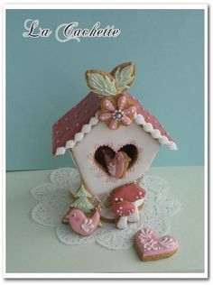 Bird house cookie by la-cachette, via Flickr