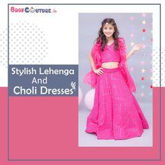 Stylish Lehenga and Choli Dresses for your Baby Girl Baby Dress Online, Choli Dress, Baby Girl Dresses, Baby Wearing, Dress For You, Lehenga, 3 D, Sequins, India