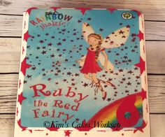 Ruby red fairy cake