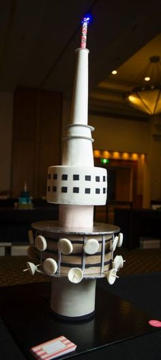 Telstra Tower in cake form.