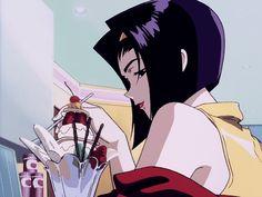 A collection of GIFs and screencaps (I've edited) of anime series and films I like. I also post manga I've read, anime OSTs I like, and any anime and manga related stuff I'm interested in. Manga Anime, Old Anime, Fanarts Anime, Manga Art, Anime Characters, Anime Art, Cowboy Bebop Faye, Cowboy Bebop Anime, Gif Animé