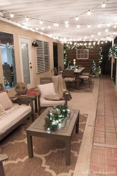Rustic Decor Ideas for Modern Home 2019 similar layout plantation shutters on outdoor windows in backyard The post Rustic Decor Ideas for Modern Home 2019 appeared first on Patio Diy. Patio Decor, House Design, New Homes, Decorating With Christmas Lights, Patio Design, Backyard Living, House, Home, Home Decor
