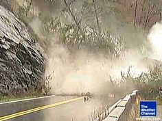 Incredible Rock Slide Caught on Tape