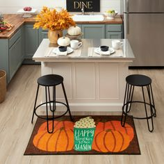 Sip and savor the fall season with the sweet autumn inspired style of the Pumpkin Spice Latte Mat in Dark Orange. #halloweendecor #halloweendoormat #fall #falldecor #doormat #pumpkinspice #kitchendecor #coffee #lowes #homedecor #pumpkins #autumn Decor, Fall Home Decor, Autumn Home, Kitchen Storage, Small Kitchen Storage, Kitchen Decor, Home Decor, Kitchen, Mohawk Home
