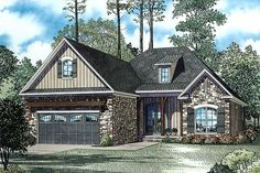 COOL house plans offers a unique variety of professionally designed home plans with floor plans by accredited home designers. Styles include country house plans, colonial, Victorian, European, and ranch. Blueprints for small to luxury home styles. House Plans One Story, Family House Plans, Best House Plans, Small House Plans, House Floor Plans, Tuscan House Plans, Cottage House Plans, Country House Plans, Cottage Homes