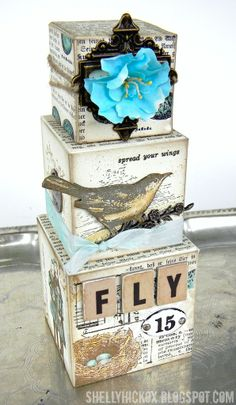 Stamptramp: Artist Trading Blocks - Fly
