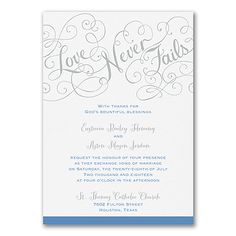 Love Rules - Double Thick Invitation - White