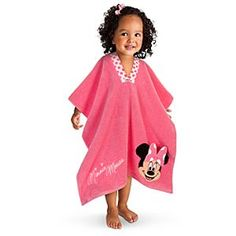 Minnie Mouse ShowNo Cover Up Towel for Girls - I think I can recreate this! Fun Projects, Sewing Projects, Sewing Crafts, Diy Gifts For Kids, Gifts For Mom, Mickey Y Minnie, Minnie Mouse, Sewing For Kids, Baby Sewing