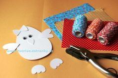 Stránky pro tvořivé - malé i velké - Velikonoce - Kuřátko - nohaté vajíčko s mašličkou