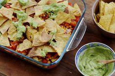 Vegan nachos uit de oven bij De Groene Meisjes