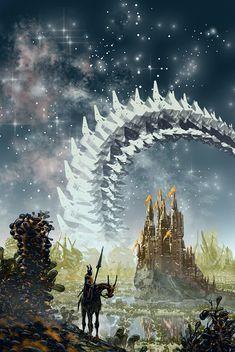 Vernor Vinge- A Fire Upon the Deep, Arthur Haas on ArtStation at https://www.artstation.com/artwork/P2bKy