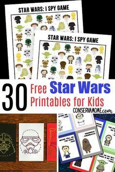 30 Free Star Wars Printables for Kids - Printable Star Wars - Ideas of Printable Star Wars #starwars #printable #files -