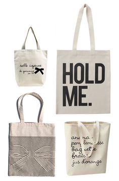 Library totes. Ideas.