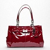 beautiful red patent leather coach purse debschueler