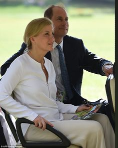 Prince Edward and his wife Sophie Countess of Wessex, both 53 were taken around the stunni...