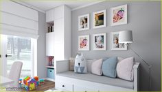 jasny pokój dla nastolatki Baby Bedroom, Girls Bedroom, Daughters Room, New Home Designs, My Room, Kids Room, New Homes, Sweet Home, House Design