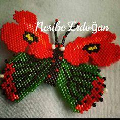 Gelincik Kelebek ☺ #taki #miyuki #miyukibeads #miyukidelica #brickstitch #peyotestitch #peyote #kelebek #butterfly #gelincik #boncuk #camboncuk #kadin #kadın #moda #stil #brooch #bros #elişi #elemeği #likefollow #like4like #like4follow #istanbul #turkiye #handmade #handmadejewelry #handm #