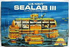 Aurora - Sea Lab III - a lot of parts from this kit were used on studio models of the late Sci Fi Models, Old Models, Plastic Model Kits, Plastic Models, Underwater City, Model Maker, Futuristic Art, Money Today, Vintage Models