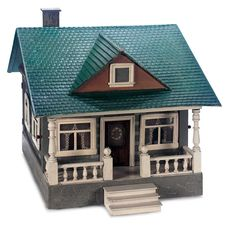 American Wooden Dollhouse, ca. 1925 by Schoenhut