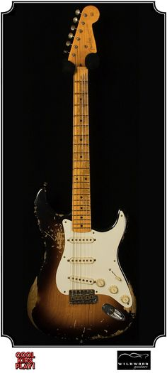 """Dealer Select Wildwood """"10"""" Relic : 57 Stratocaster built by the Fender Custom Shop for Wildwood Guitars. Relic'd faded Two Tone Sunburst"""