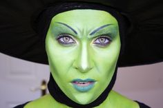 www.LetzMakeup.com: The Wicked Witch of the West; Halloween makeup tutorial.