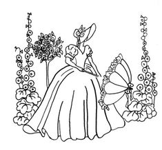 Vintage Embroidery Designs Barbara of Vintage Spice and Everything Nice gave me the heads up that she shares a vintage embroidery pattern every Friday. The design shown here is just one recent example. Check out Barbara Embroidery Transfers, Machine Embroidery Patterns, Hand Embroidery Designs, Embroidery Ideas, Halloween Embroidery, Christmas Embroidery, Knitting Patterns, Silk Ribbon Embroidery, Crewel Embroidery